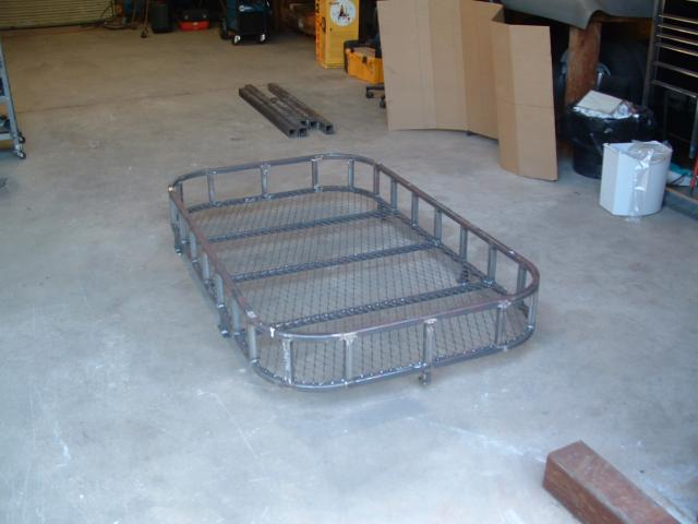 Custom fabricated steel vehicle roof rack