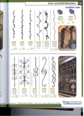 Wrought iron baluster and pickets