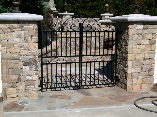Custom wrought iron gate for backyard transition